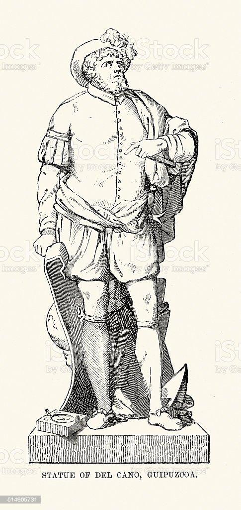 Juan Sebastian Elcano vector art illustration
