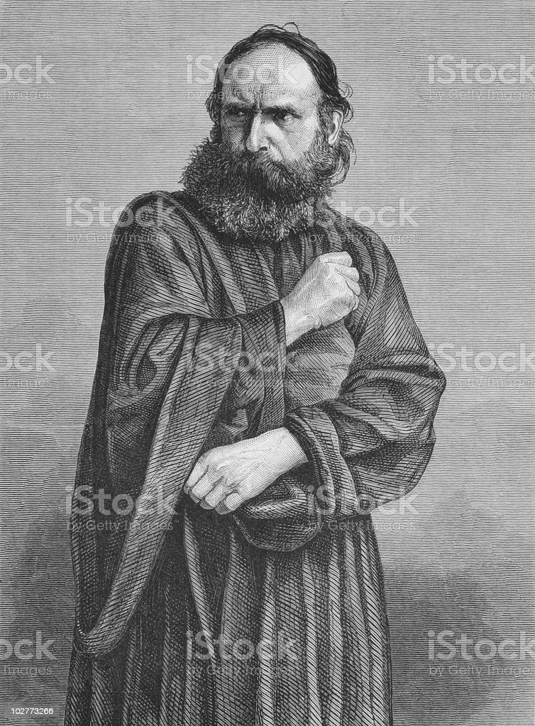 Judas vector art illustration