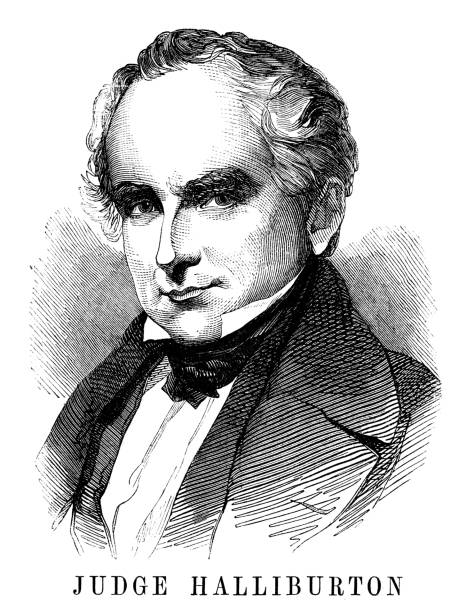 Judge Brenton Halliburton Judge Brenton Halliburton - Scanned 1855 Engraving chief justice stock illustrations