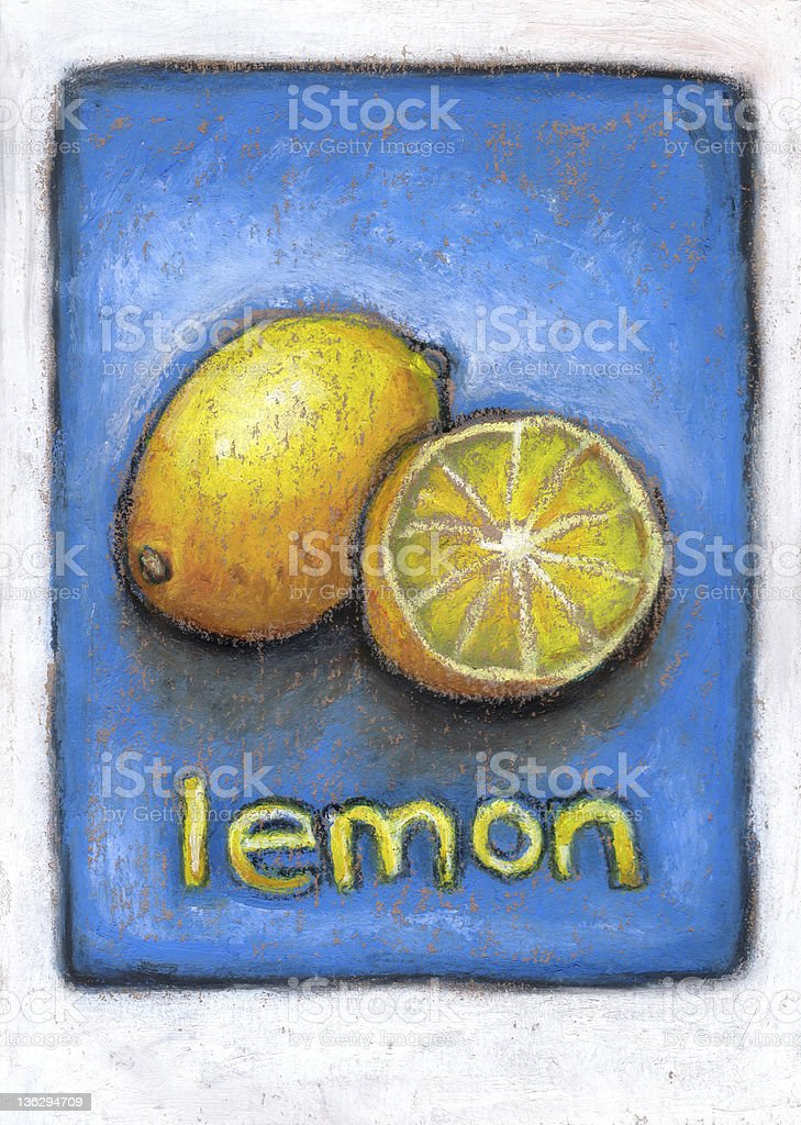 Juicy lemons royalty-free stock vector art