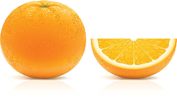 juicy orange - orange color stock illustrations, clip art, cartoons, & icons