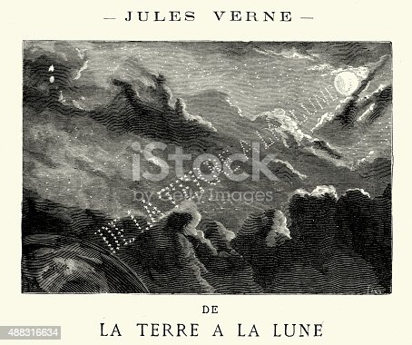 istock Jules Verne - De la terre a la lune 488316634