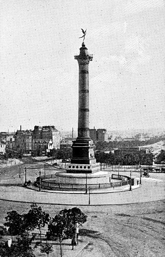 July Column at Place de la Bastille in Paris, France - 19th Century