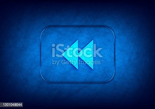 istock Jump backward icon abstract digital design blue background 1201049044