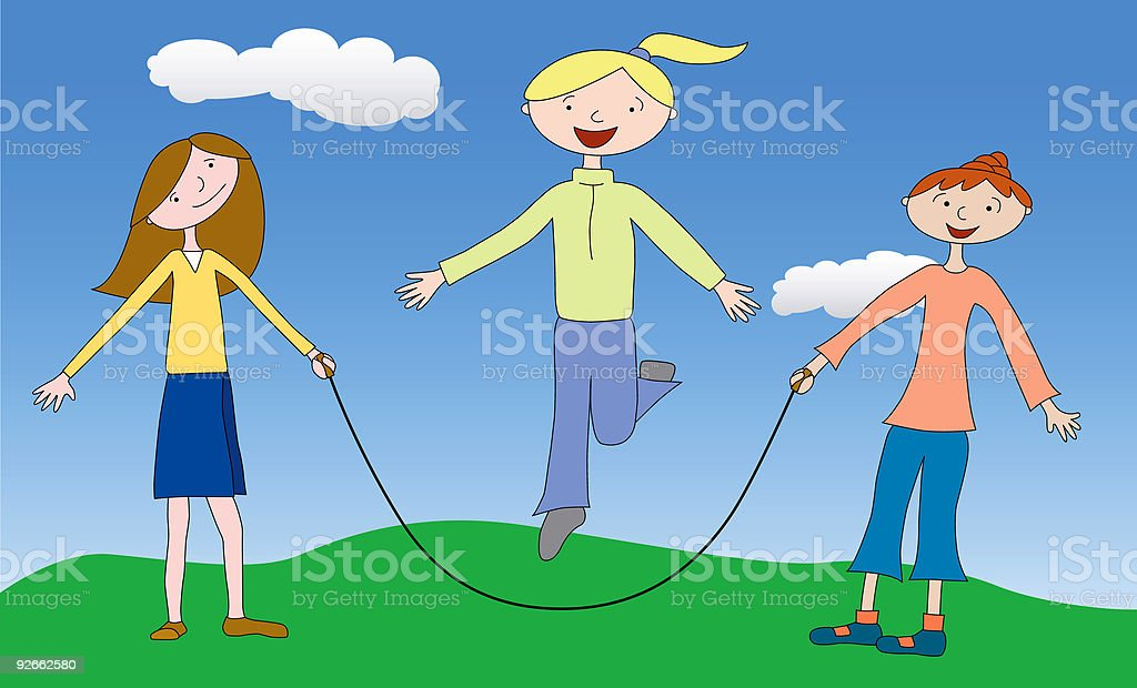 Jump rope royalty-free stock vector art