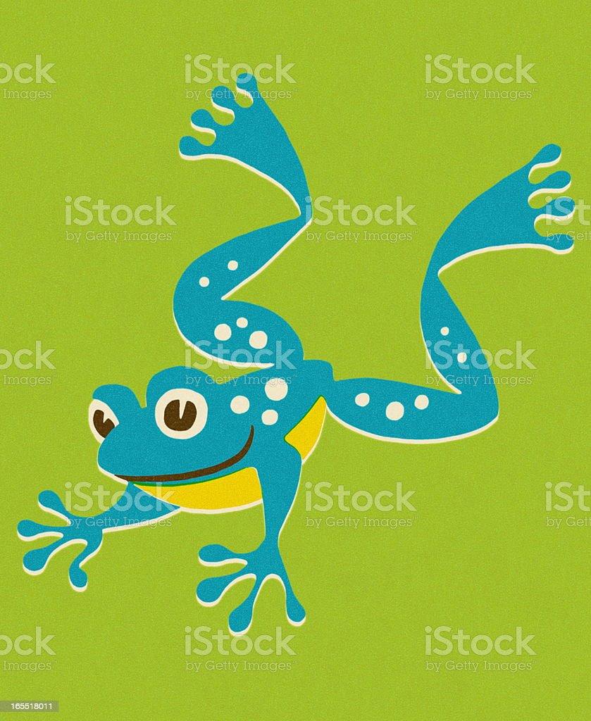 Jumping Frog royalty-free stock vector art
