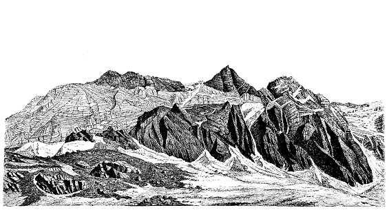 Jungfrau Mountains in Switzerland
