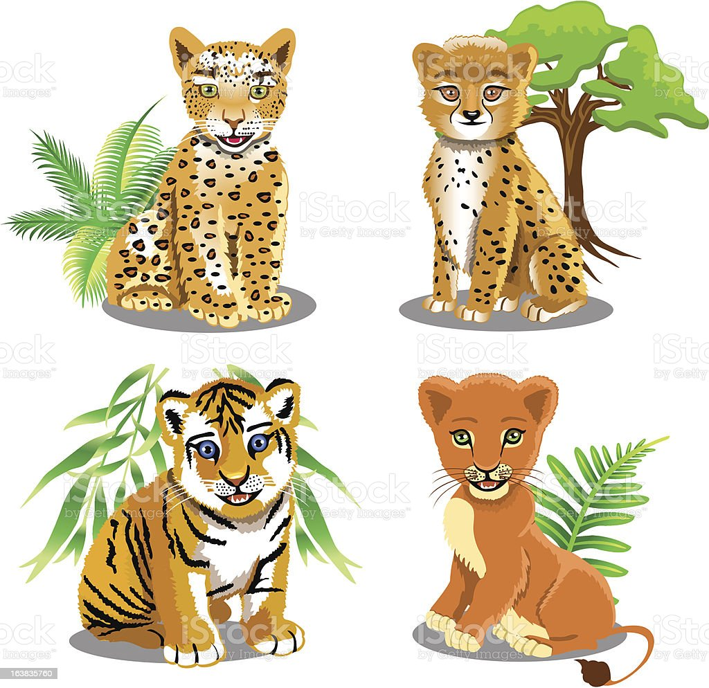 jungle animals royalty-free stock vector art