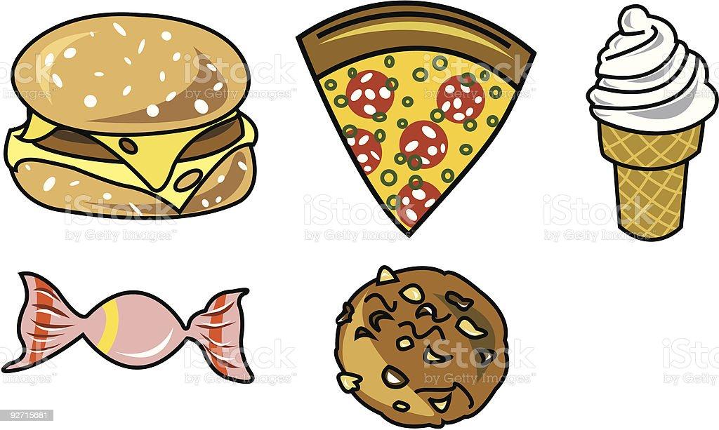 junkfood royalty-free junkfood stock vector art & more images of burger