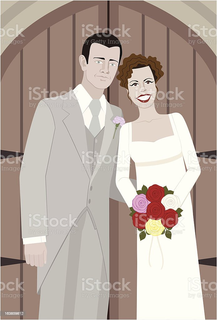 Just Married vector art illustration