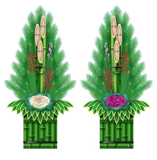 kadomatsum 、日本の新年の松の装飾。 - 門松点のイラスト素材/クリップアート素材/マンガ素材/アイコン素材