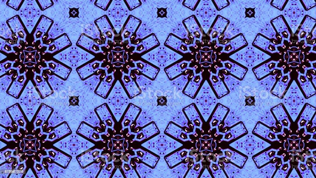 Kaleydoskop Desen 3d Render Arka Plan Mandala Geometrik Grafik