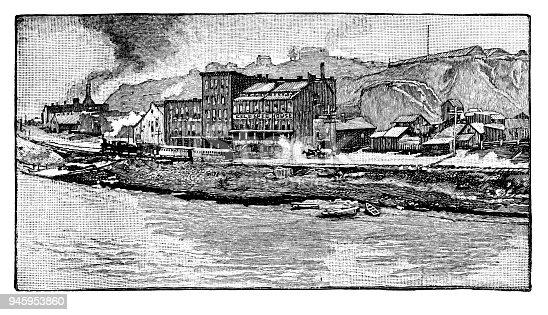 Kansas City - Scanned 1887 Engraving
