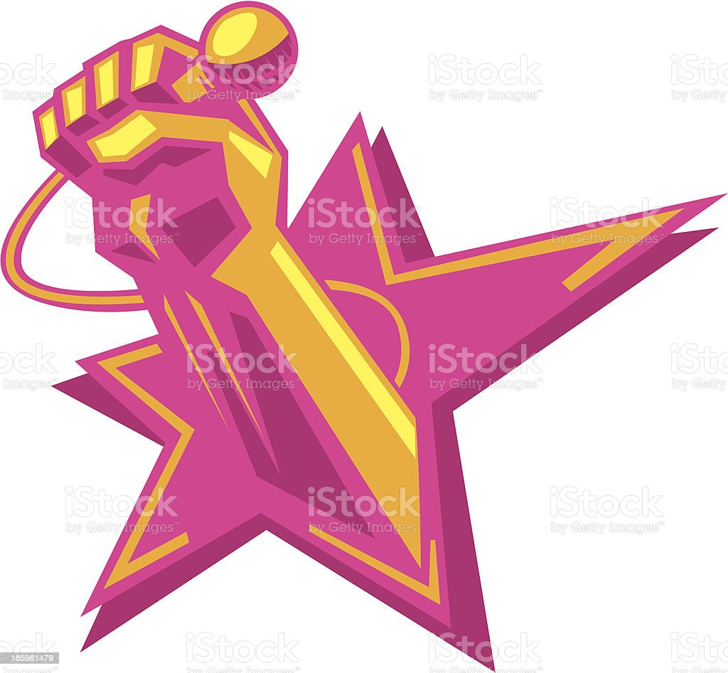 karaoke super star vector art illustration