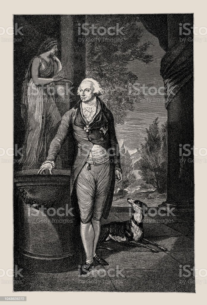 Karl August von Hardenberg (1750-1822). Prussian statesman and Prime Minister of Prussia. He was its representative at the Congress of Vienna (1815) - Illustrazione stock royalty-free di Acquaforte
