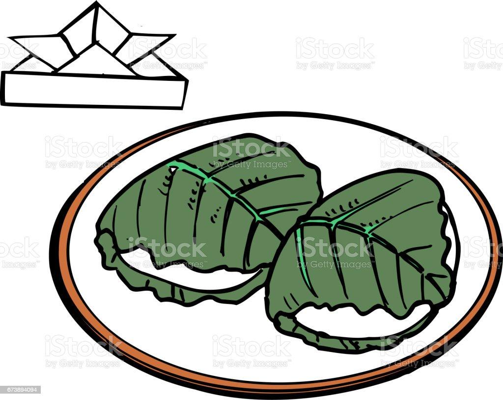 Kashiwa kashiwa – cliparts vectoriels et plus d'images de aliment libre de droits