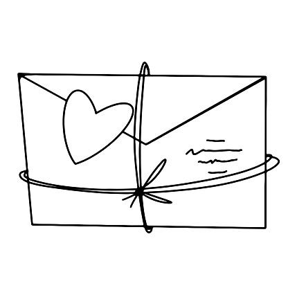 Kawaii art for valentine's day