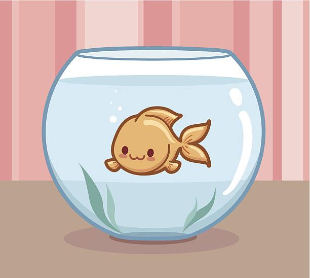Kawaii Goldfisch – Vektorgrafik