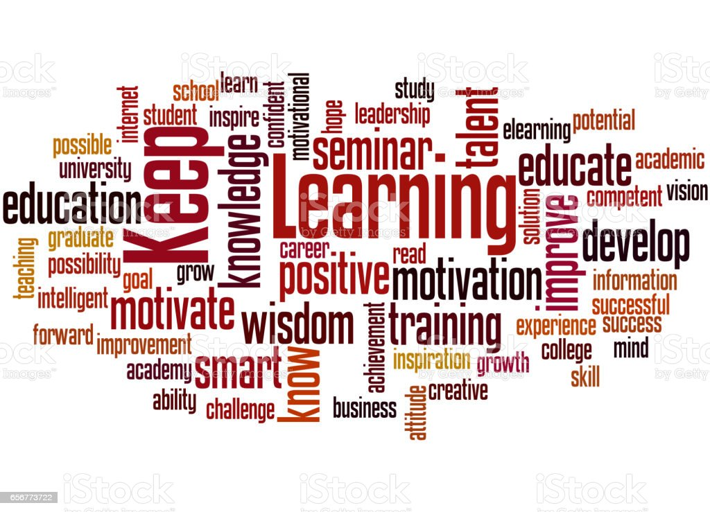 Keep Learning Word Cloud Concept Stock Illustration ...
