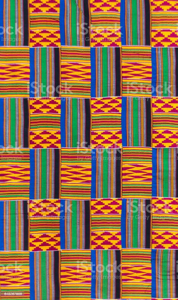 Textura de pano kente - ilustração de arte em vetor