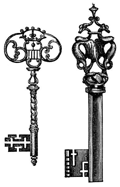Royalty Free Skeleton Key Clip Art, Vector Images ...