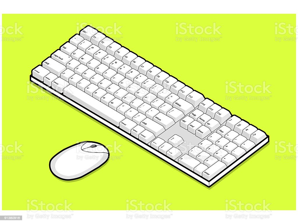 Keyboard and mouse royalty-free stock vector art