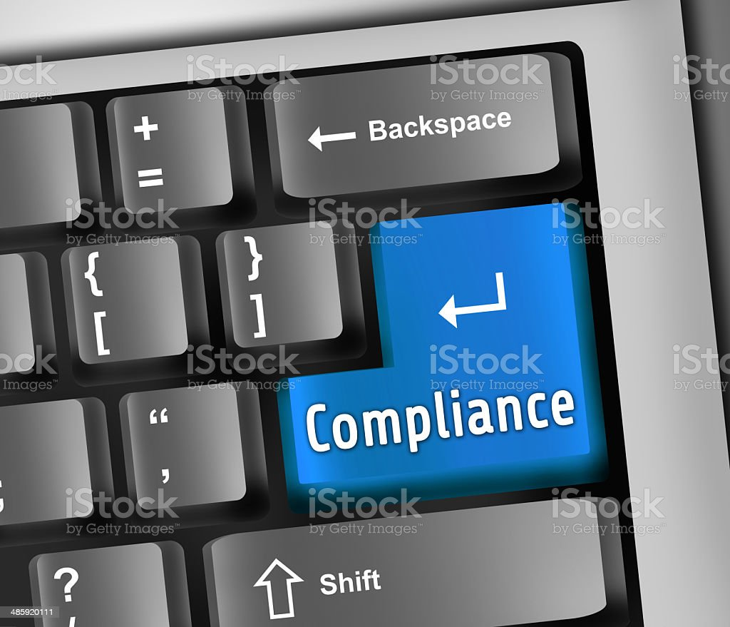 Keyboard Illustration Compliance royalty-free keyboard illustration compliance stock vector art & more images of authority