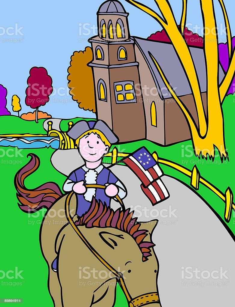 Kid Adventures: Colonial Horseman royalty-free kid adventures colonial horseman stock vector art & more images of adult