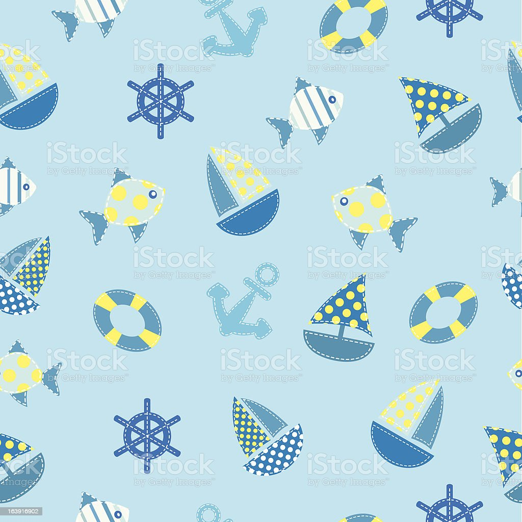 kid marine seamless royalty-free kid marine seamless stock vector art & more images of animal markings