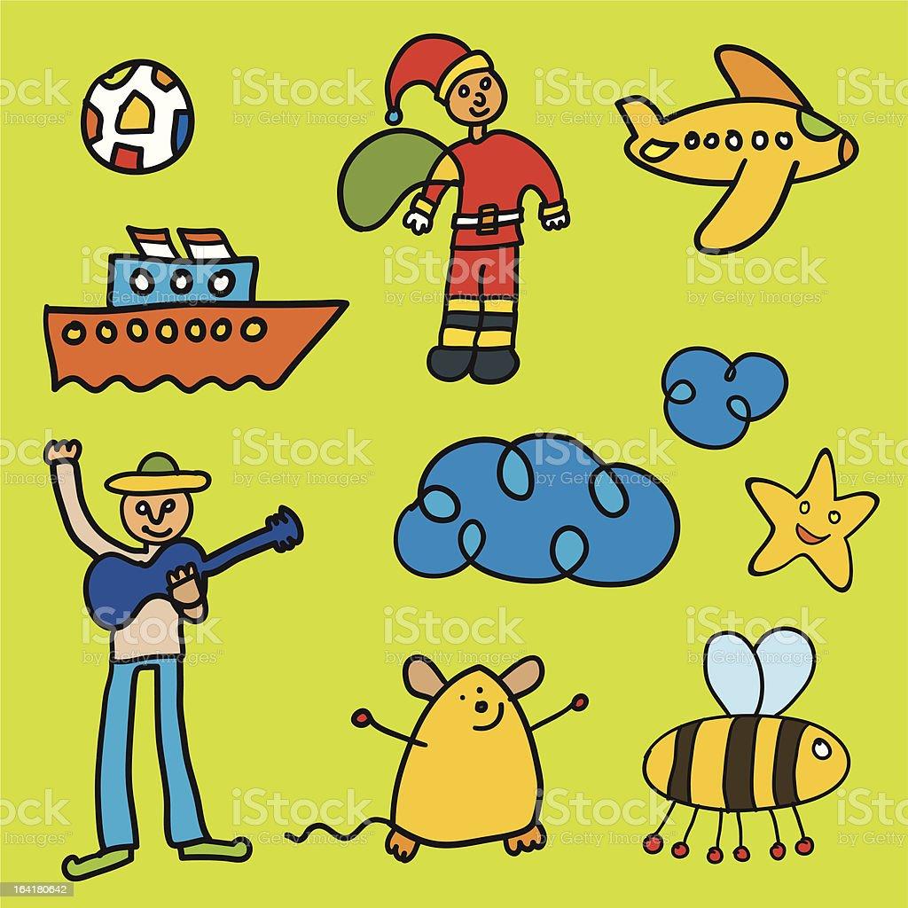 Kid paint 2 vector art illustration