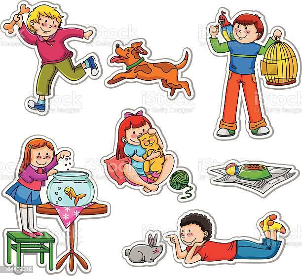 Kids and their pets illustration id164469016?b=1&k=6&m=164469016&s=612x612&h=s3uw pkfzh174ta0sq4uzr4eyhff vxqnzbqjsd2s0m=
