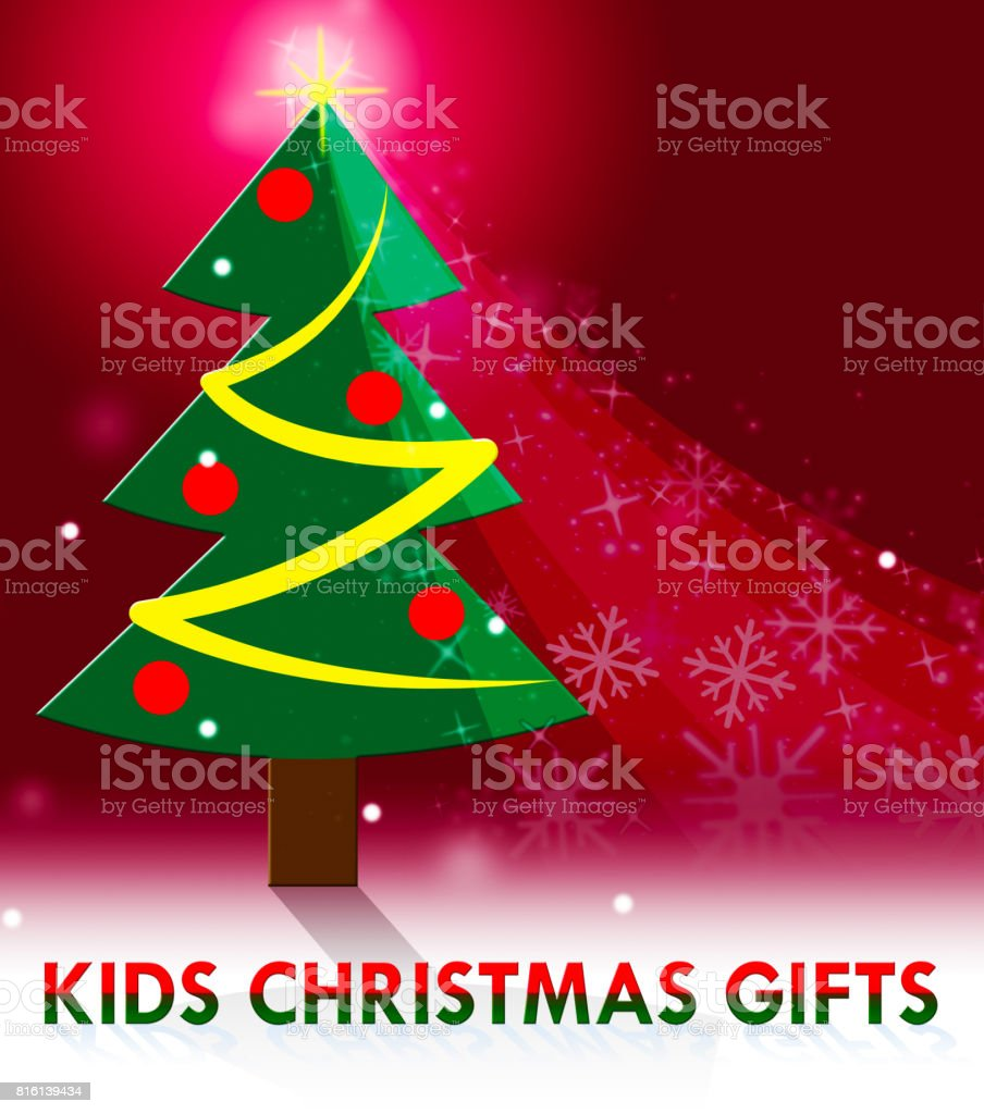 Kids Christmas Gifts Means Xmas Presents 3d Illustration Stock Illustration Download Image Now Istock