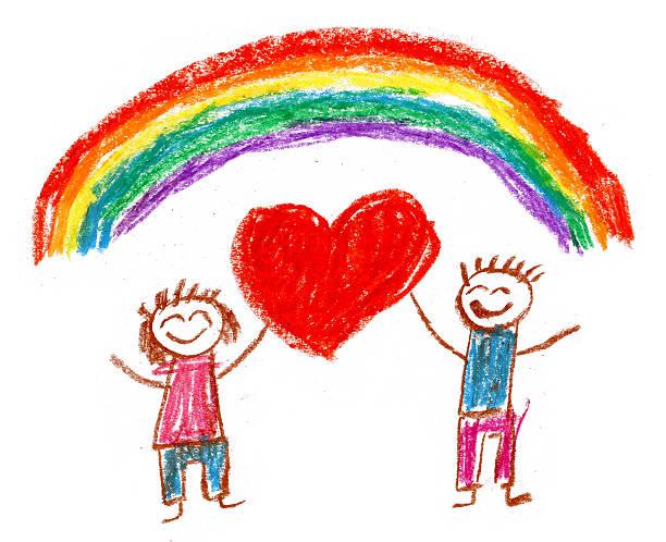 dzieci rysunek - dzieło artystyczne stock illustrations