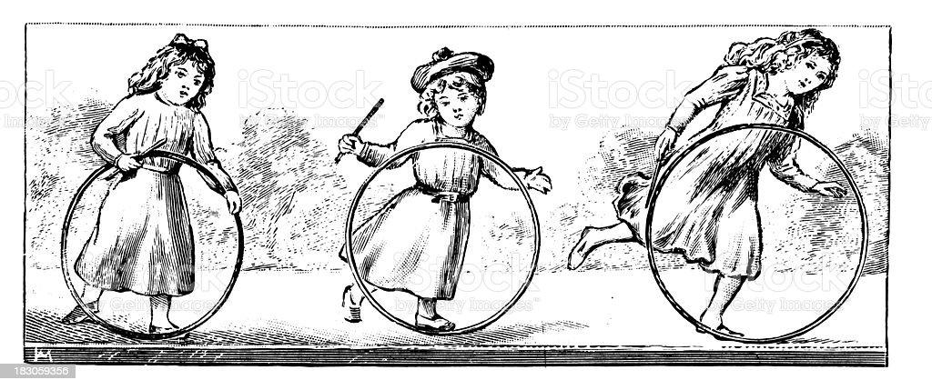 Ilustracion De Ninos Jugandoantiguos De Diseno Ilustracion Y Mas