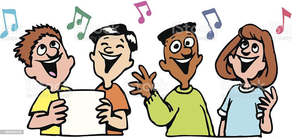 Kids Singing stock vector art 163540425 | iStock