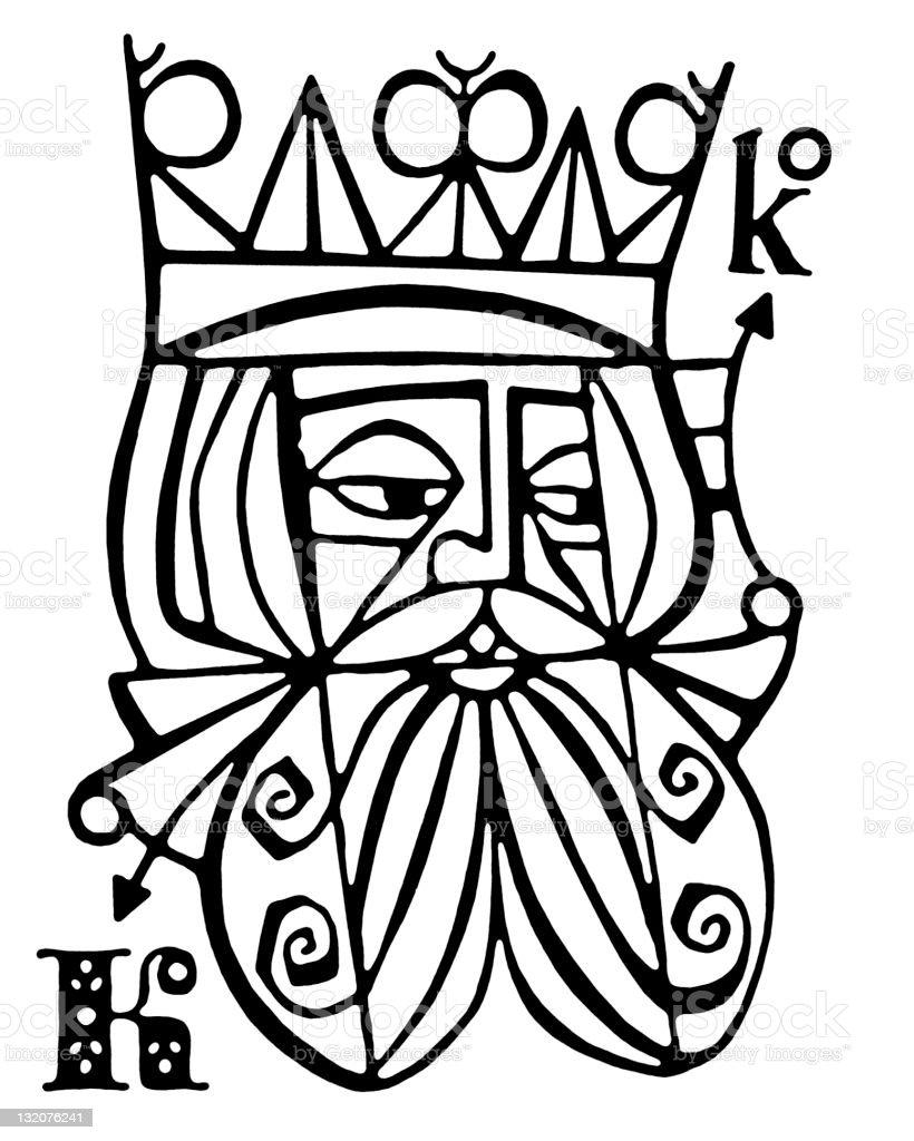 King Card vector art illustration