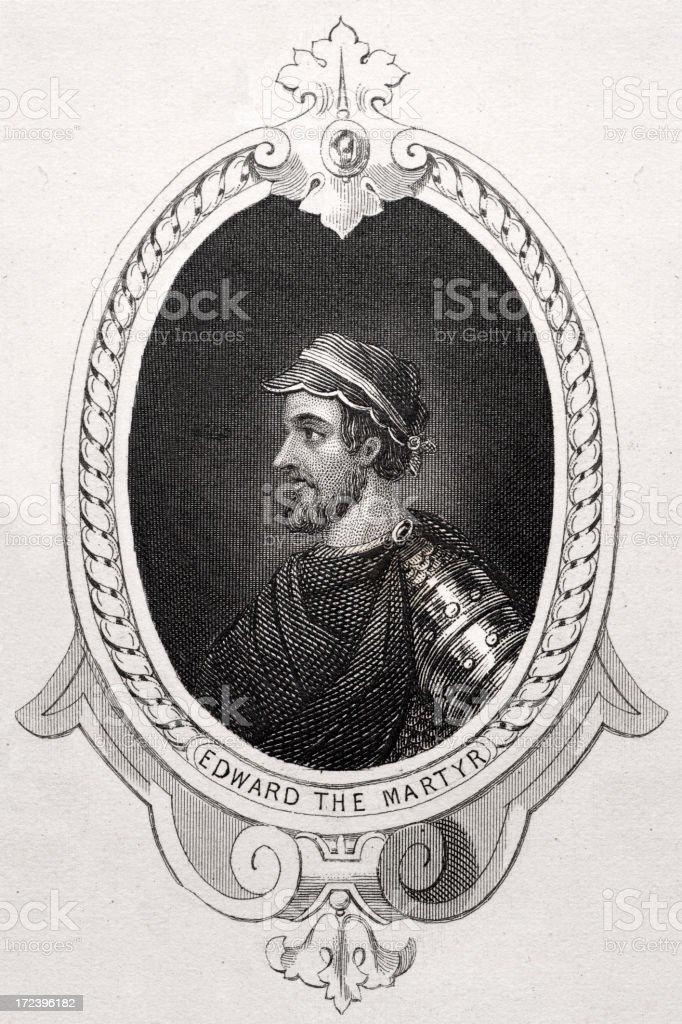 King Edward the Martyr vector art illustration
