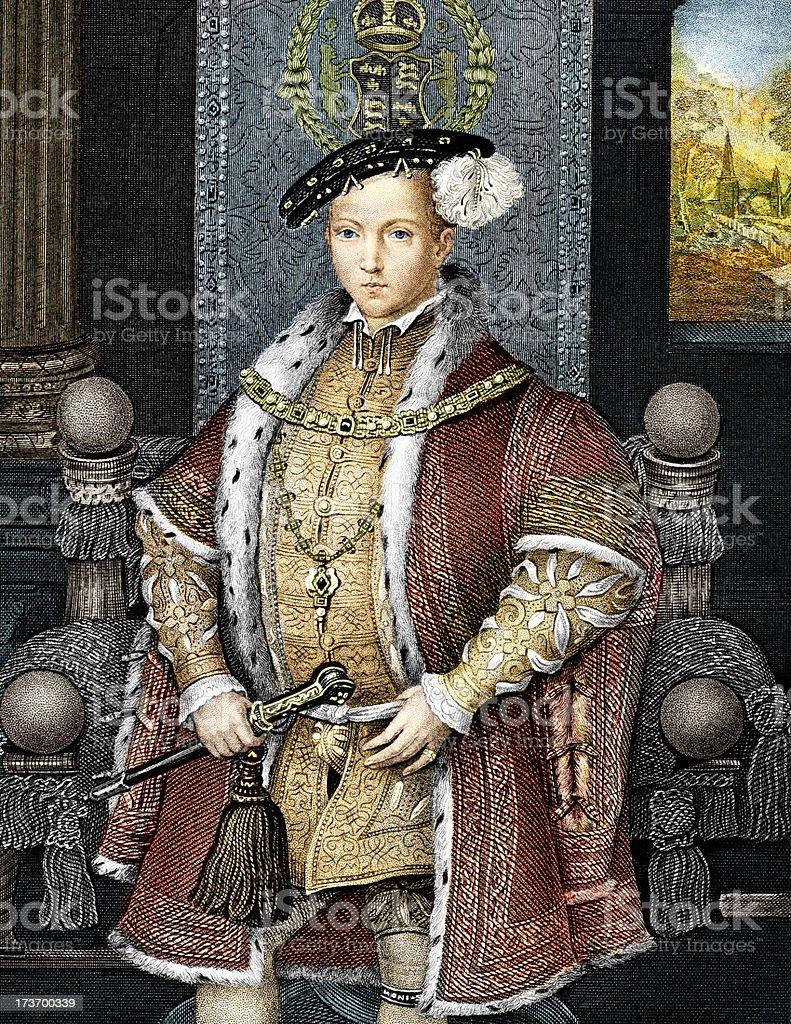 King Edward the Sixth royalty-free stock vector art