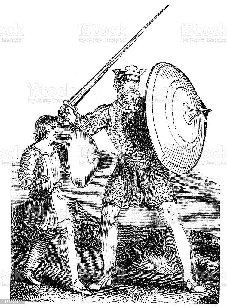 King Ethelbert of Kent vector art illustration