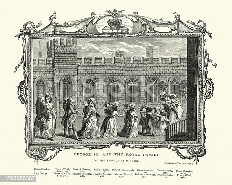 istock King George III and Royal family, on terrace at Windsor 1263688067