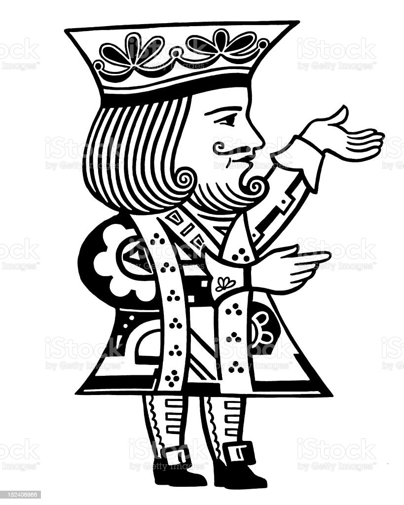 King Gesturing royalty-free stock vector art