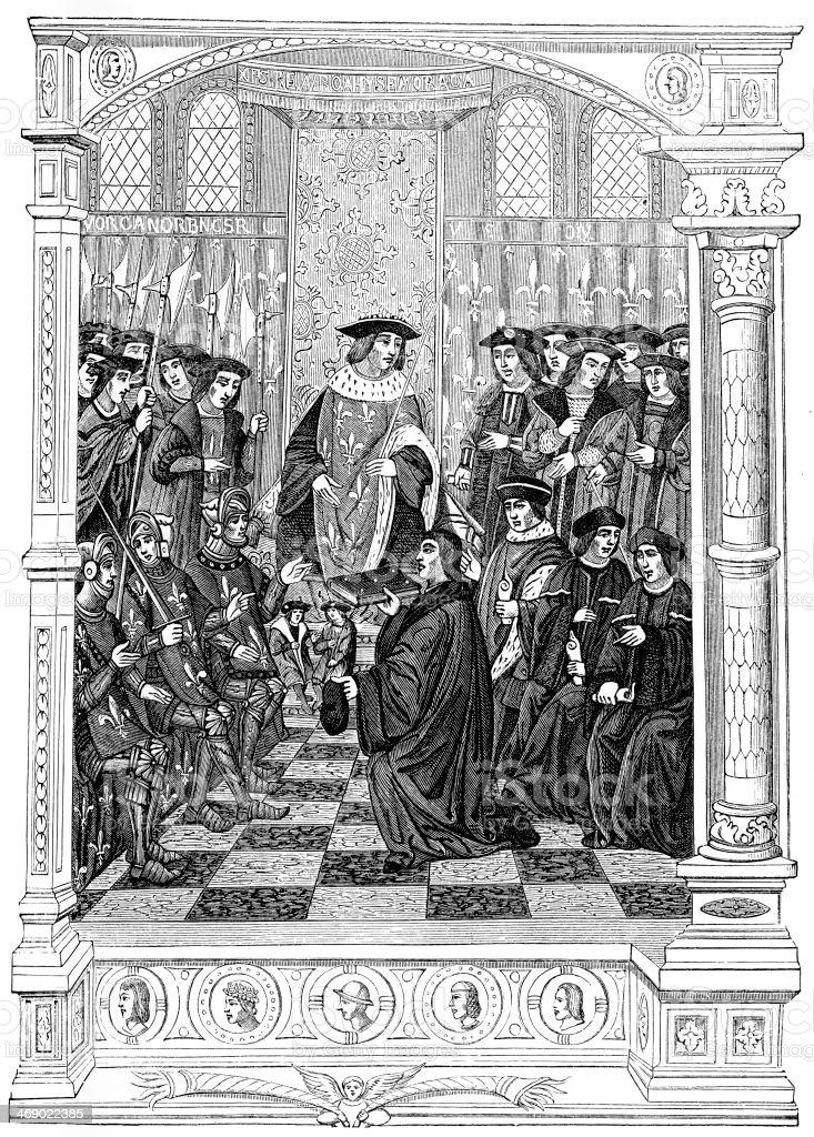 King Henry II of France vector art illustration