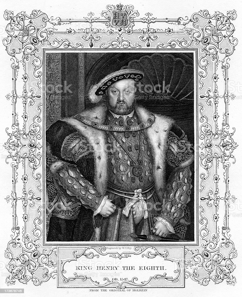 King Henry VIII royalty-free stock vector art