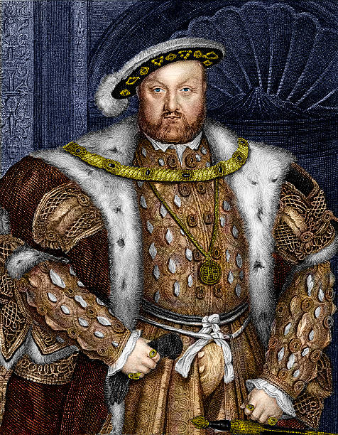 stockillustraties, clipart, cartoons en iconen met king henry viii - vroegmoderne tijd