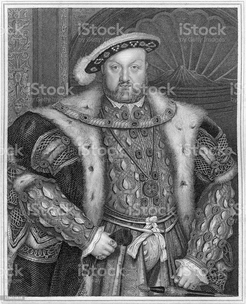 King Henry VIII of England royalty-free stock vector art