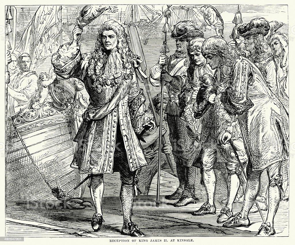 King James II at Kinsale royalty-free stock vector art