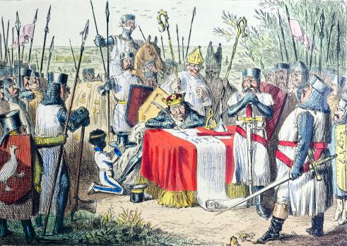 King John Signing Magna Carta 19th Century Illustration