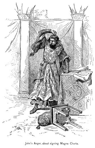 King John's Anger At Signing The Magna Carta