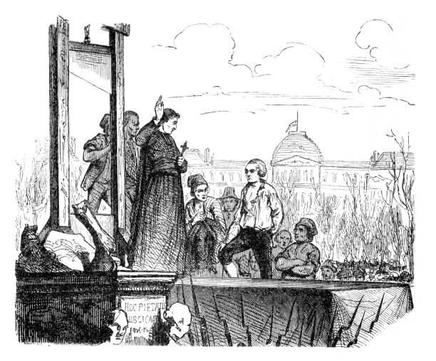 King Louis XVI of France execution Paris illustration 1793 vector art illustration