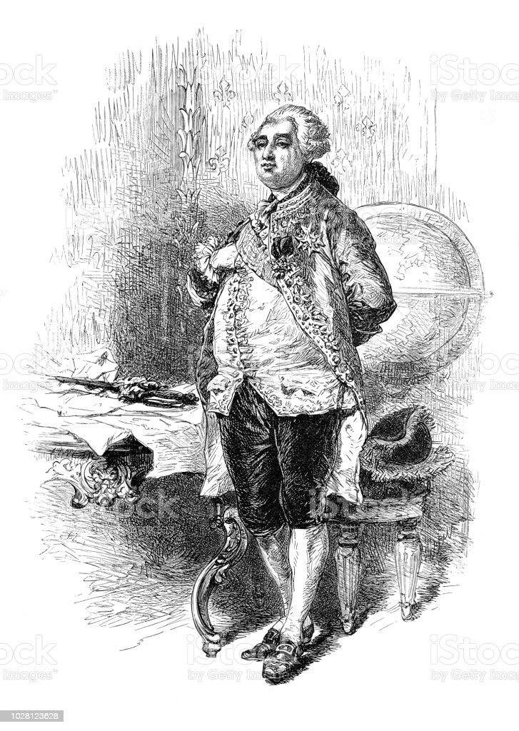 Roi Louis XVI d'illustration portrait France - Illustration vectorielle